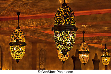 Arabic lights - Image of pressed metal arabic style lights