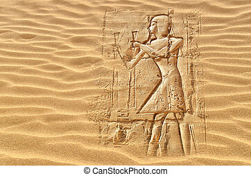 Egyptian hieroglyphs - Image of egyptian hieroglyphs hidden...