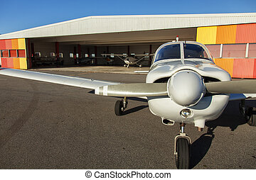 Small planes in private airport - Image of small private...