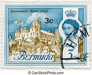 BERMUDA - 1962: shows Government House, 1892 - BERMUDA -...