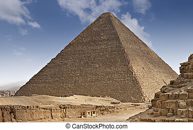 Pyramids od Egypt - One of the pyramids on the giza plateau...