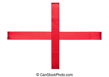 Red Ribbon Cross - Red Cross made from present ribbon...