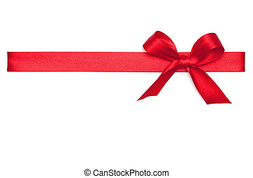 Red Ribbon Tie - Red Tie from present ribbon Isolated on...