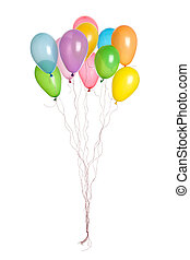 Party - Bunch of Balloons - Bunch of party balloons hanging...