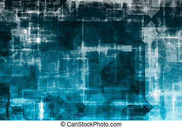 Business System Abstract Background