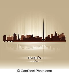 Dublin Ireland skyline city silhouette