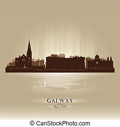 Galway Ireland skyline city silhouette