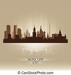 Moscow Russia skyline city silhouette