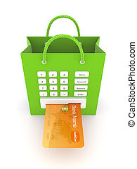Payments concept.Isolated on white background.3d rendered...