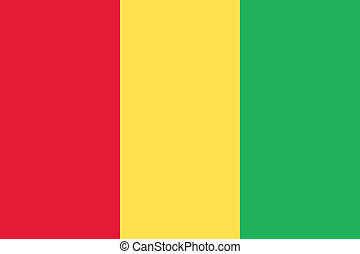 Guinea flag - Vector Republic of Guinea flag