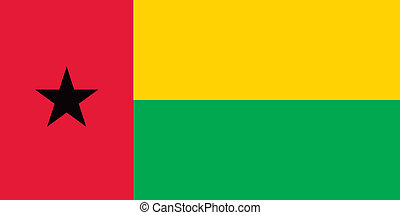 Guinea-Bissau flag - Vector Republic of Guinea-Bissau flag