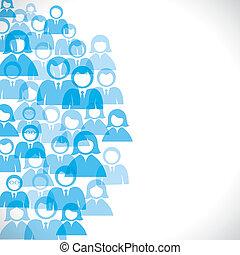 blue businessmen background stock vector