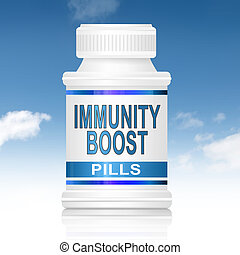 Immunity boost concept. - Illustration depicting a...