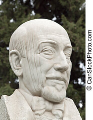 Pirandello - Luigi Pirandello marble bust (sicilian literate...