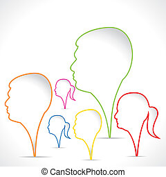 color men women backgroundstock vector