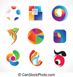 abstract multiple colorful business