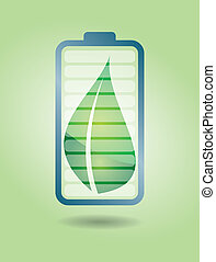 Ecological battery with leaf