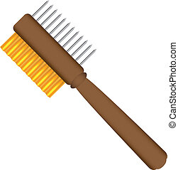 Cleaning Paint Brushes - 2 Sided Painter's Comb For Cleaning...