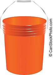 Paint bucket - Plastic bucket for paint. Working accessory....