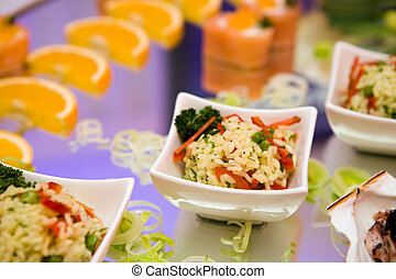 Rice and caviar - Seafood arrangement with Rice and caviar...