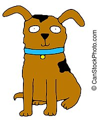 Mans Best Friend - illustration of a cartoon dog
