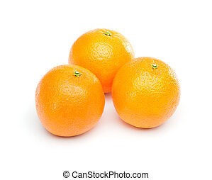 Group of Oranges - Group of oranges. Isolated on white...