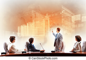 Construction business - Image of businesspeople at...