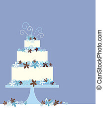 decorative cake - an illustration of a three tier wedding...