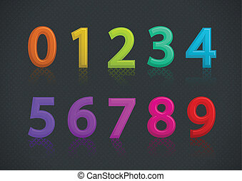 Vector set of colorful numbers