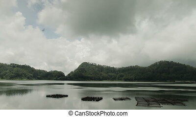 lake veiwing forest in Indonesia - lake ngebel in ponorogo...