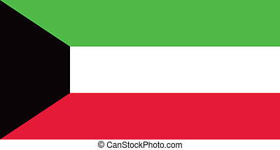 Kuwait flag - Vector State of Kuwait flag
