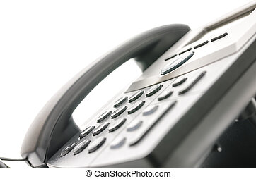 Closeup of a telephone keypad with selective focus Concept...
