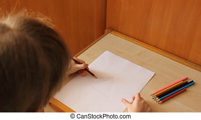 little girl draws a girl 6013