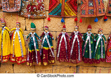 tourist souvenirs indian puppet dolls of jaisalmer - tourist...