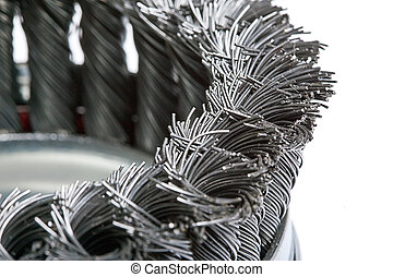 wire brush for metal processing