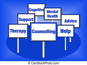 Counselling signs - Counselling concept illustration with...
