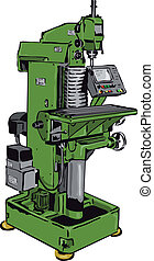 conventional milling machine with control panel
