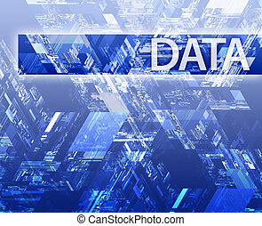 Data illustration - Data internet abstract illustrating...