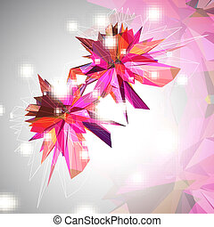 Triangular 3D Background - Triangular 3D Abstract Background...