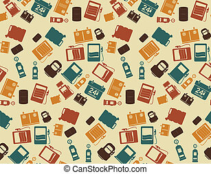 Vector   Gas Station. background pattern and icon