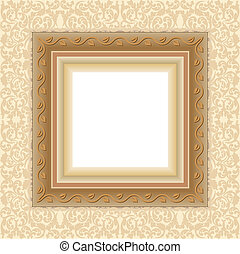 floral frame with transparent space insert for picture