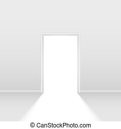 Open door Illustration on white background for design