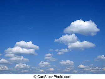 Fluffy clouds - Fluffy clouds. Picture can be used as a...