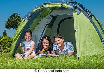 familia, campamento