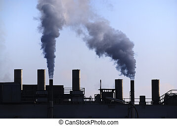 Industrial Revolution - Air pollution - dirty smoke comming...