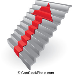 Staircase - Isolated illustration eps 10 Staircase with...