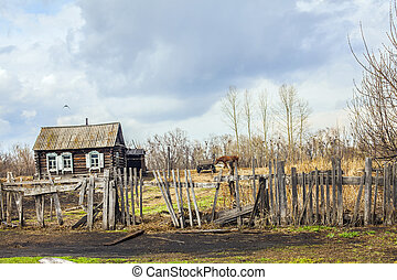 view of the Russian village - view of the Russian...