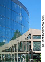 Circular Building - Circular building with windows...