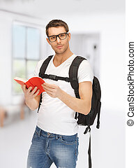 traveling student - bright picture of traveling student with...