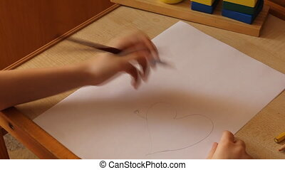 little girl draws a hearts wedding 6022
